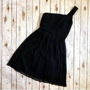 J.CREW Black Lucienne One Shoulder Formal Dress